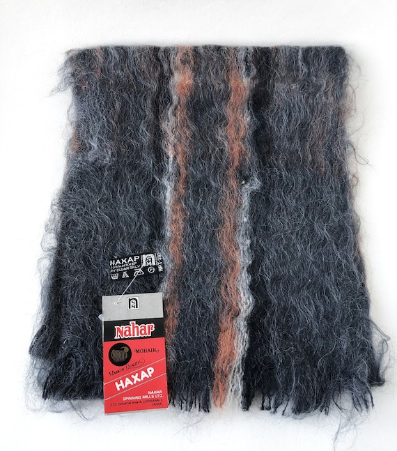 Mohair scarf Vintage mohair plaid scarf
