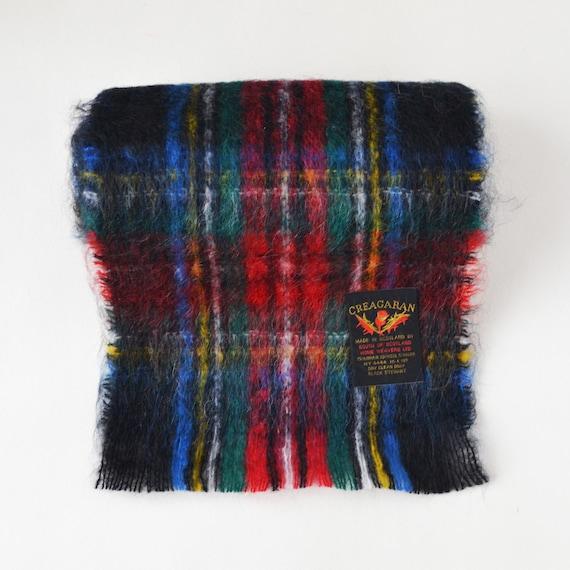 Scottish mohair scarf Vintage plaid mohair scarf … - image 4