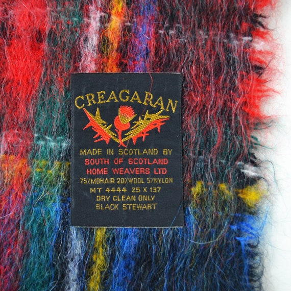 Scottish mohair scarf Vintage plaid mohair scarf … - image 2
