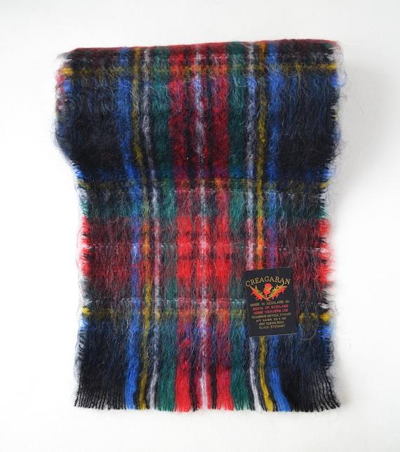 Scottish mohair scarf Vintage plaid mohair scarf … - image 3