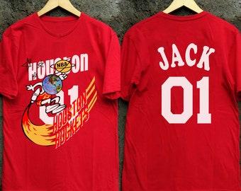 Travis Scott Houston Rockets T Shirt Astroworld Cactus Jack Record Tee