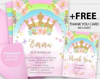 Princess Invitations Etsy