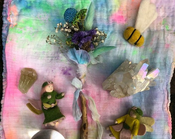 Dried Flower Fairy Wand