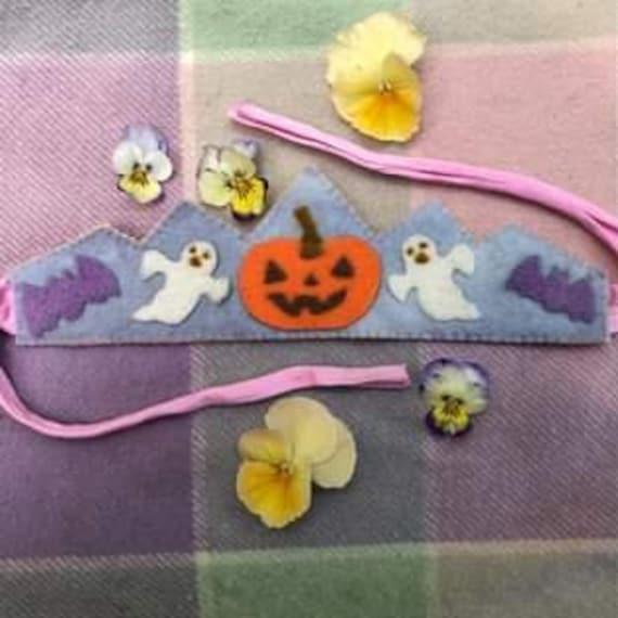 Halloween Birthday Crown - Natural Felt - Waldorf inspired