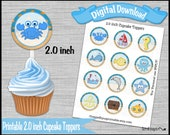 Under the Sea cupcake topper Ocean Beach birthday party Party 2.0 inch Nautical Cup cake cupcake pick Digital Diy printable INSTANT DOWNLOAD