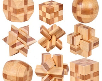 Puzzles & Games Honey Classic Iq 3d Wooden Puzzle Mind Brain Teaser Interlocking Burr Puzzles Game Toys For Adults Children Kids Puzzles