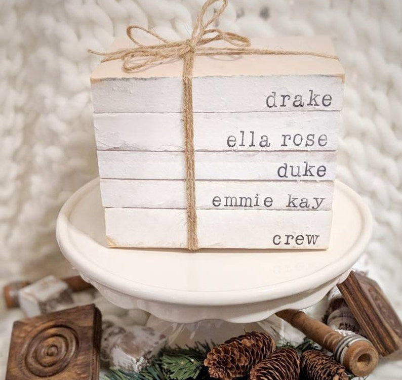As Sent to Chip and Joanna Gaines Custom SET OF Personalized image 0
