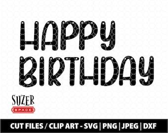 Happy Birthday Banner SVG Design, Happy Birthday Garland, Happy Birthday Cut File, Happy Birthday Clip Art, Birthday Decoration