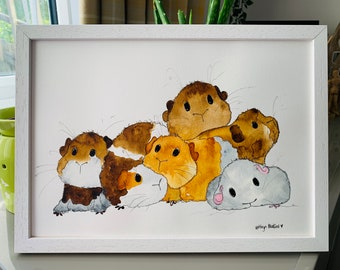 Guinea Pig Wall Art Etsy