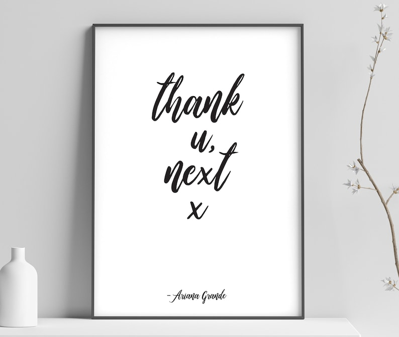 Ariana Grande Thank U Next Quote Poster Print Song Etsy