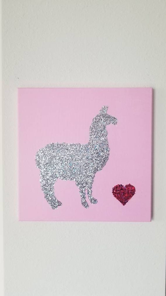 Glitter Dogs Gold Goldendoodle Bling Canvas Wall Art Decor
