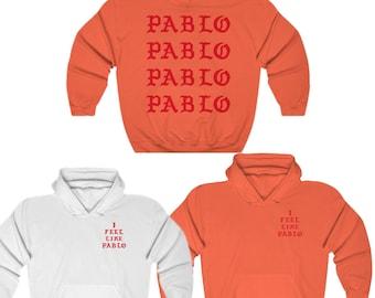 917b2f144 Paris I Feel Like Pablo Unisex Heavy Blend Hooded Sweatshirt Hoodie Kanye  West Merch Tlop Inspired Yeezy Yeezus