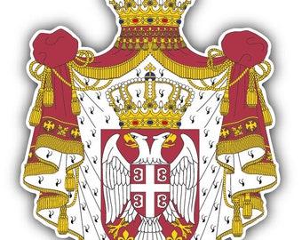 cfa27f76e Serbia Coat Of Arms Car Bumper Sticker Decal