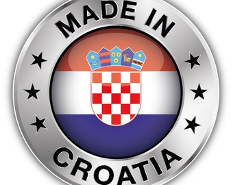 5/'/' 6/'/' or 8/'/' 3/'/' Croatia Flag Soccer Cleats Car Bumper Sticker Decal