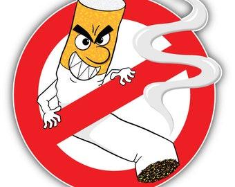 5c1f406e1 Funny No Smoking Sign Car Bumper Sticker Decal