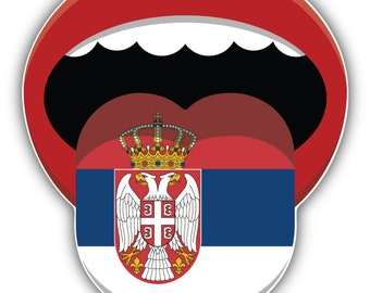 5/'/' 6/'/' or 8/'/' Serbia Coat Of Arms Glossy Shield Car Bumper Sticker Decal 3/'/'