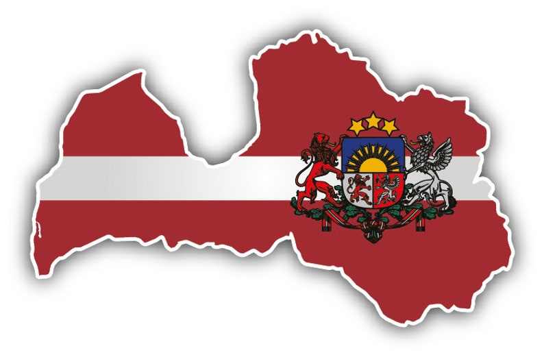 3/'/' or 5/'/' Poland Map Flag Coat Of Arms Car Bumper Sticker Decal