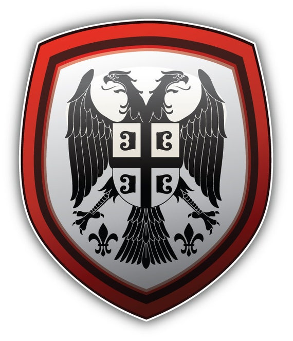 Sticker coat of arms flag car vinyl decal outdoor bumper shield chile