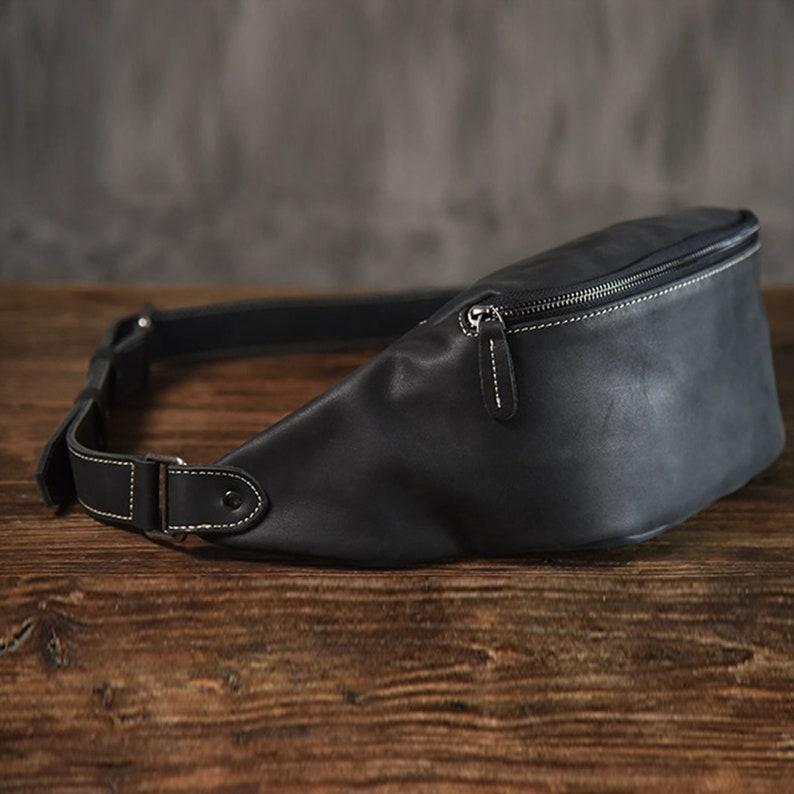 Bum Bag Leather Vintage Bum Leather Bag Fanny Pack Vintage Chest Bag Leather Men/'s Shoulder Messenger Belt Bag Casual Sports Waist Packs