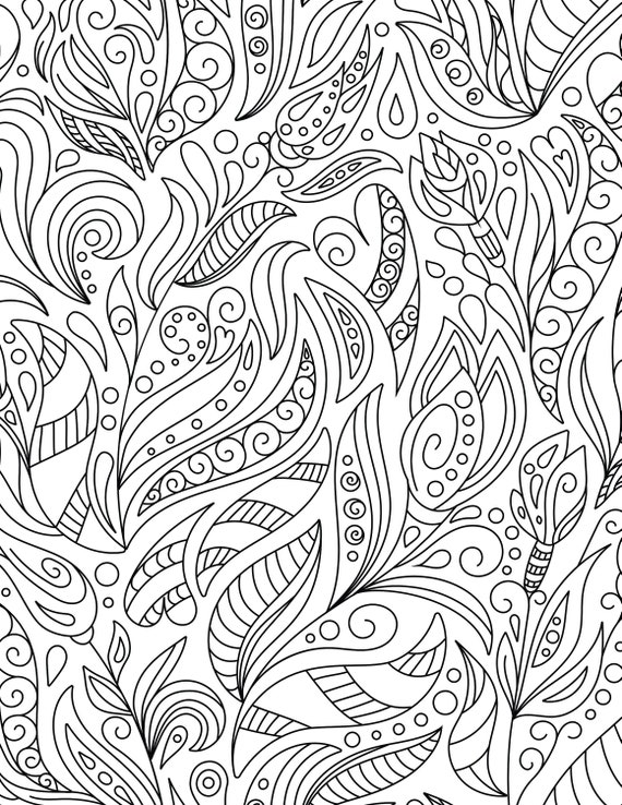 Twist Pages For Adults 3 Printable Coloring Pages Instant Etsy