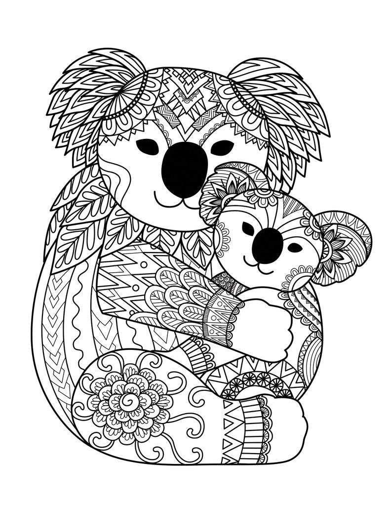 Panda Coloring Pages for Adults 1 Printable Coloring Page ...