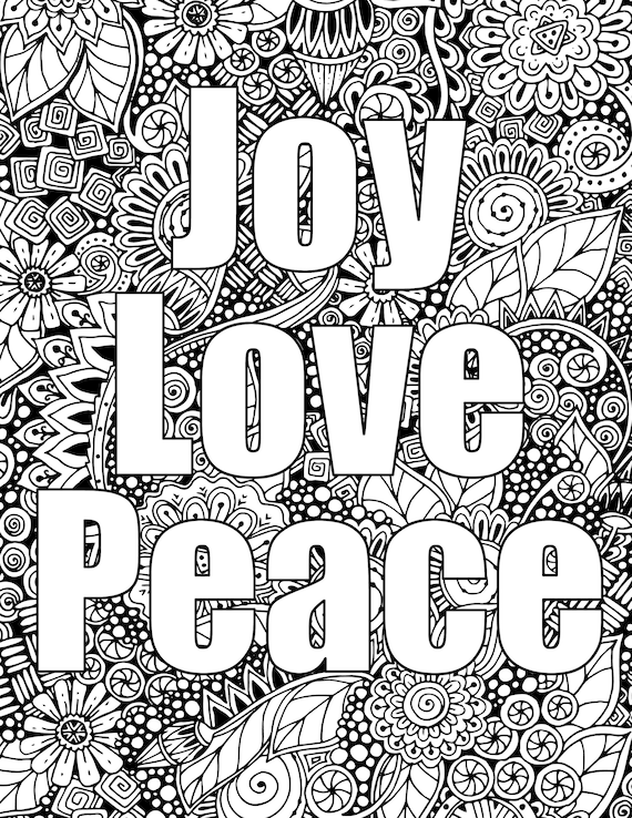 Free Printable Peace Sign Coloring Pages | 738x570