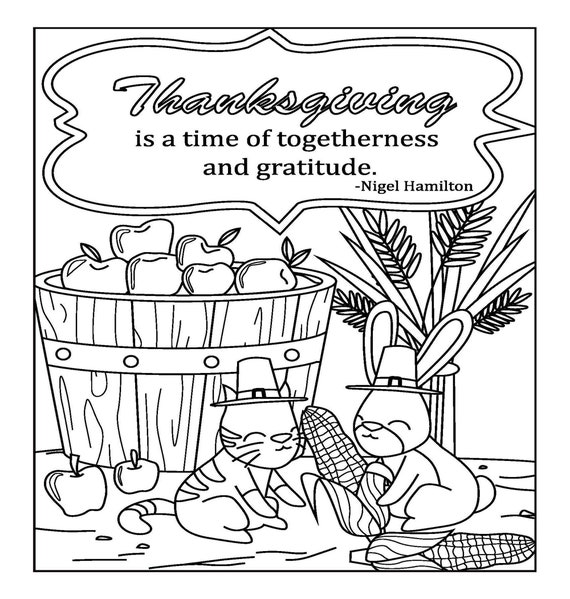 Thanksgiving Coloring Pages For Adults 2 Printable Coloring Etsy