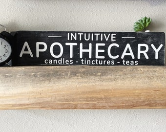 2021 Custom Apothecary Wood Sign   Farmhouse Decor   Rustic Modern Vintage Decor   Business Sign   Personalized  Wall Decor  French Pharmacy