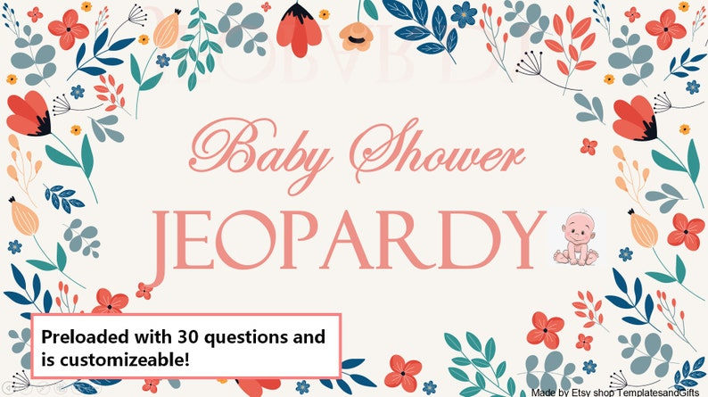 Virtual or In person Baby Shower Game  Gender Neutral  image 0