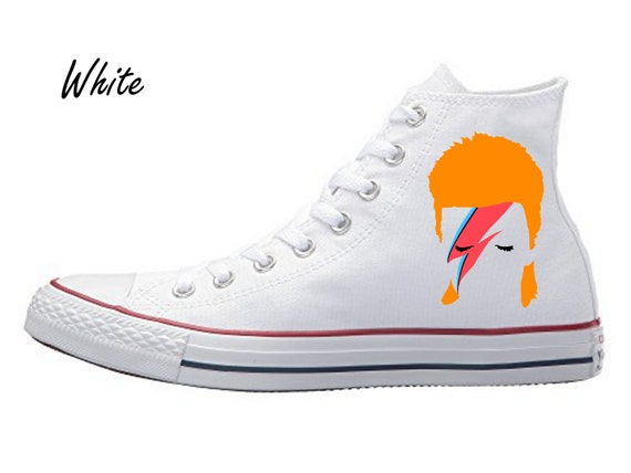 David Bowie Ziggy Stardust Hi Tops