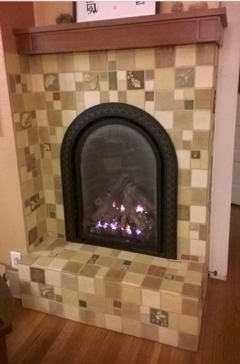 - 4x4 Beige Rustic Fireplace Kitchen Backsplash Tile Hand Made Etsy