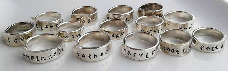 979  Silver Personalized unsinkable Ring.