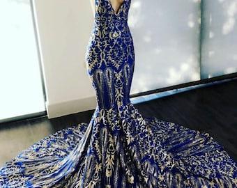 246e0edc3 Blue prom dress