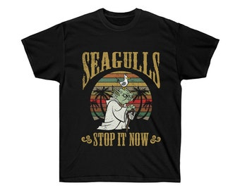 0748d00da Yoda Seagulls Stop It Now Star Wars T Shirt Unisex Ultra Cotton Tee Shirt