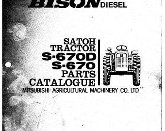 Vintage Mitsubishi Satoh S-650G S-550G Bison Elk Tractor   Etsy