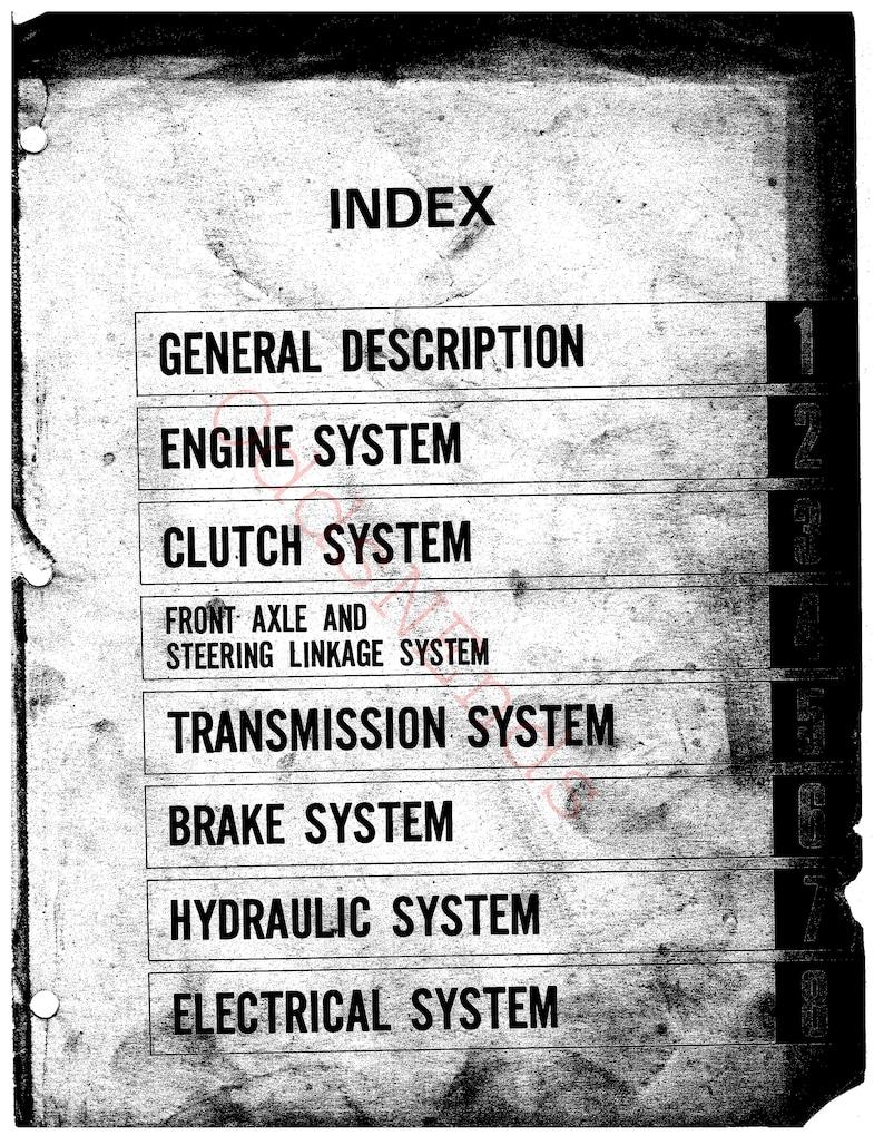 Vintage Mitsubishi Satoh MT210 MT210D MT250 MT250D Tractor Service Workshop  Repair Manual