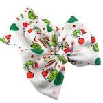 Merry Grinchmas / Headband  / Soft Stretch Bow / Baby Girl / Oversize Bows / Oversize Headwrap / Fabric Bow / Big Bows / Black Friday