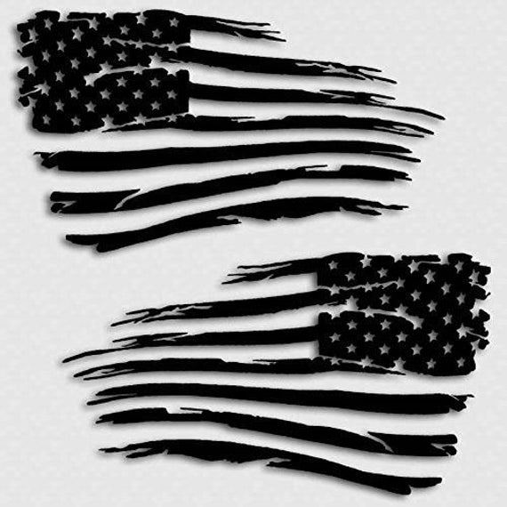 Distressed USA American Flag Car Truck Suv Rear Window Glass Decal Sticker V2 MANY SIZES and COLORS