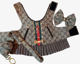cff6508ea44a Monogram Designer Harness - Lead and Bow sold separately - Please measure  and order by the sizing chart