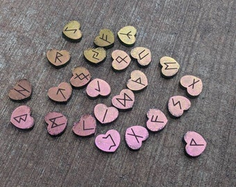 Holographic Heart Runes (Made to Order) see details.