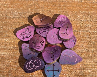 Witches Runes set of 13 (Made to Order) Read Details.
