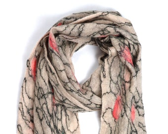 Shuvadra Scarf // Felted Mohair Wool Scarf