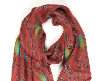 Nicola Scarf // Felted Mohair Wool Scarf