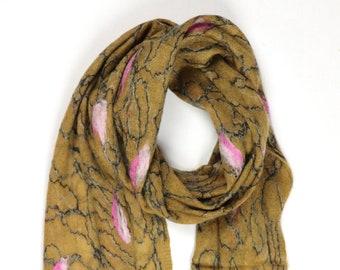 Shanoli Scarf // Felted Mohair Wool Scarf