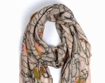 Bhavaroopa Scarf // Felted Mohair Wool Scarf