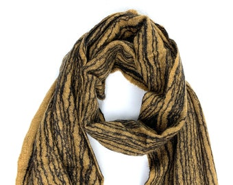 Bengal Scarf // Felted Mohair Wool Scarf