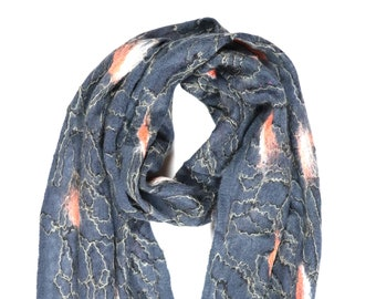 Heena Scarf // Felted Mohair Wool Scarf