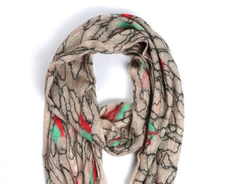 Alina Scarf // Felted Mohair Wool Scarf