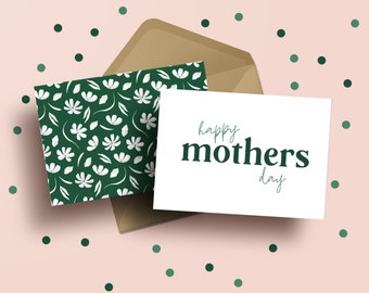 Happy Mother's Day Card | Mother's Day | Floral | Cards for Mom | Greeting Card