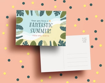 Custom Teacher to Student Postcard - Have A Fantastic Summer | End of School Year | Custom | Student Gift | School's Out | Summer